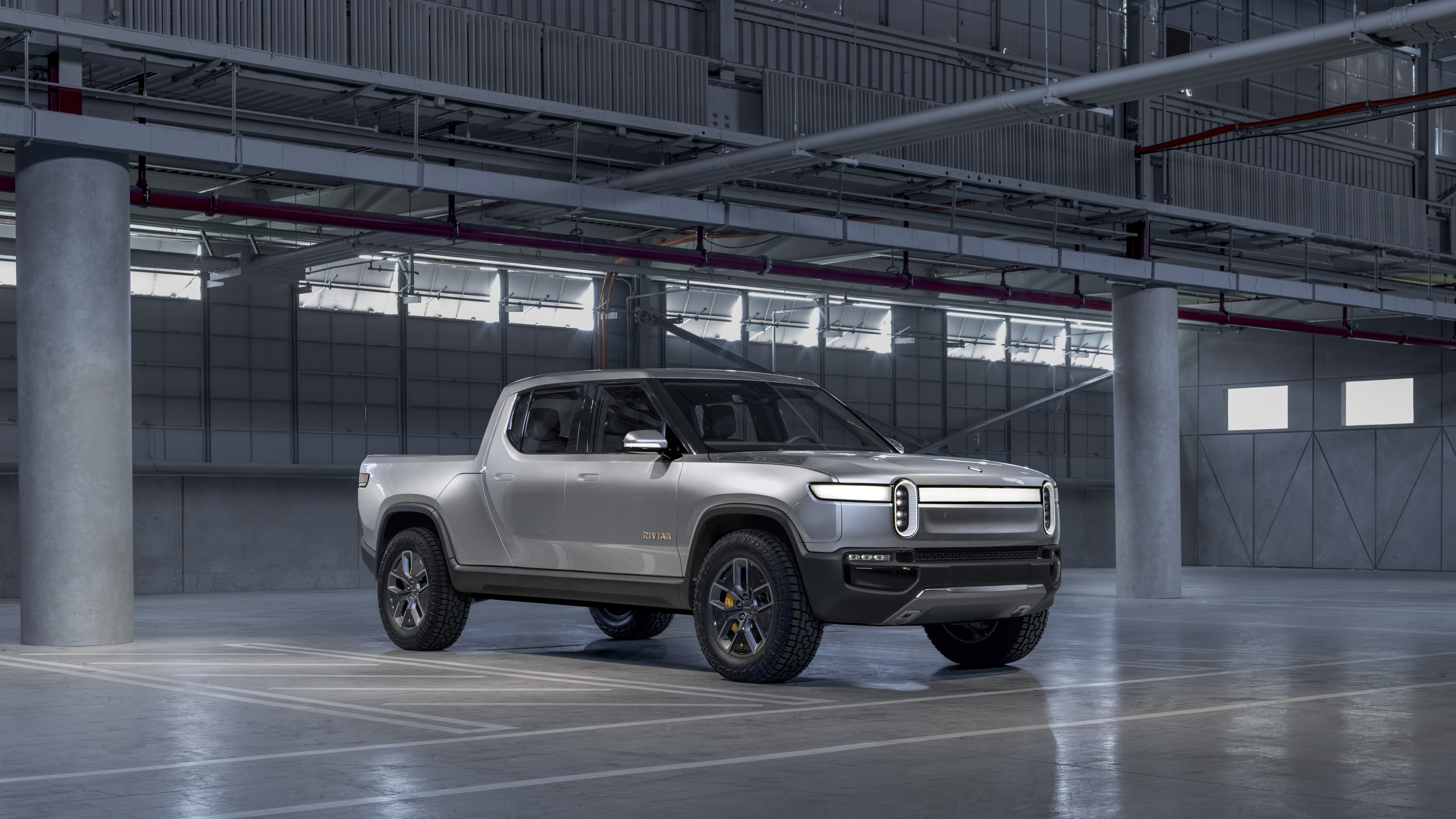 The 2020 Rivian R1t Electric Truck Middle Fingers Tesla