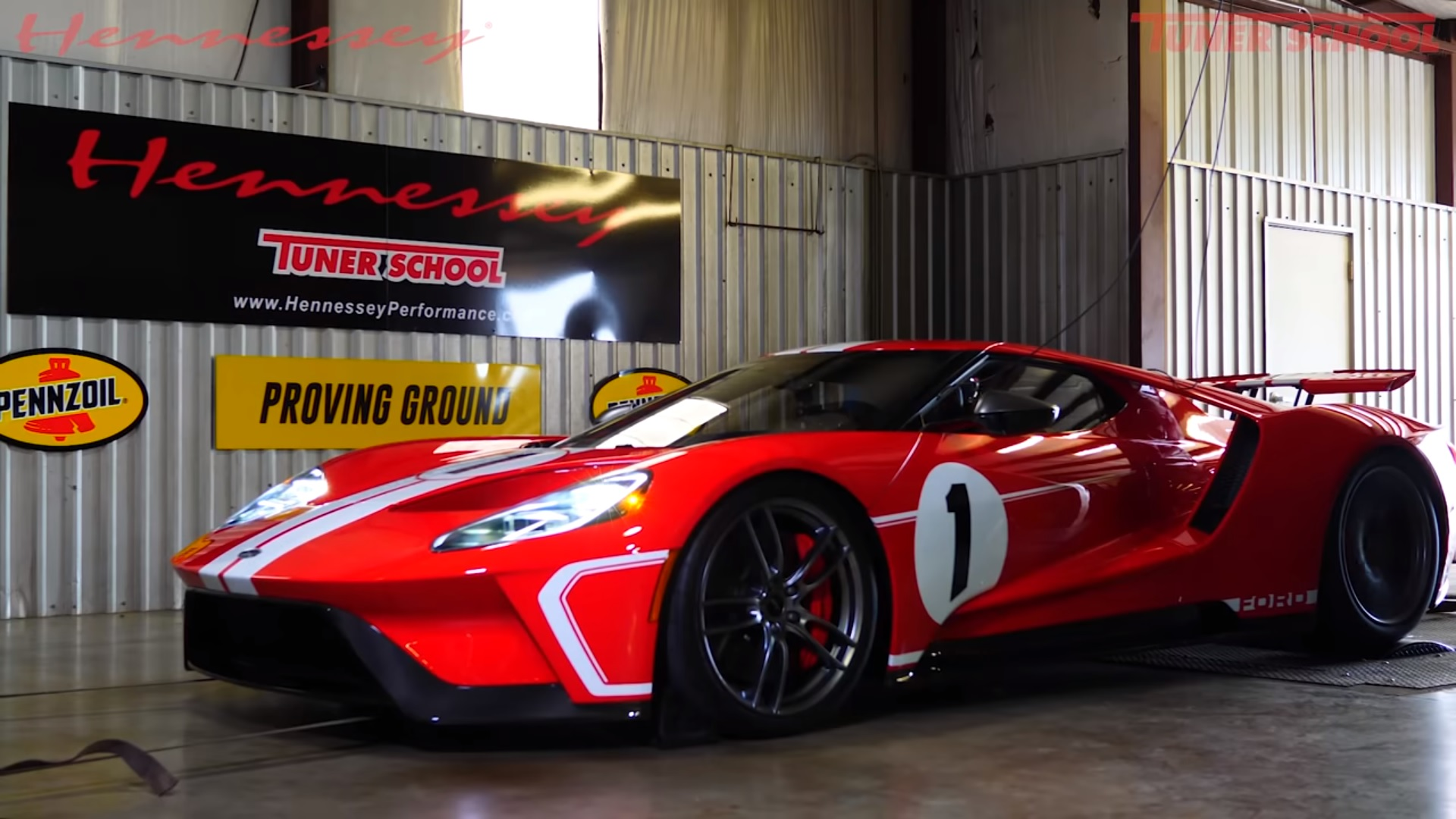 Watch Hennessey Performance Put A Stock Ford Gt Heritage Edition Through The Paces On A Dyno