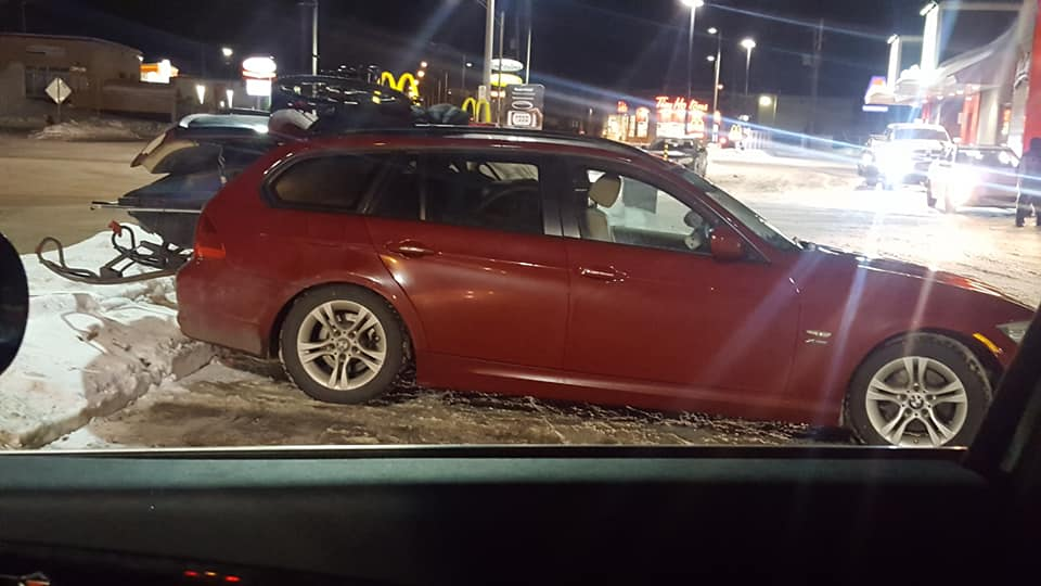 A Snowmobile In The Back Of A Bmw 3 Series Is Proof We Need More