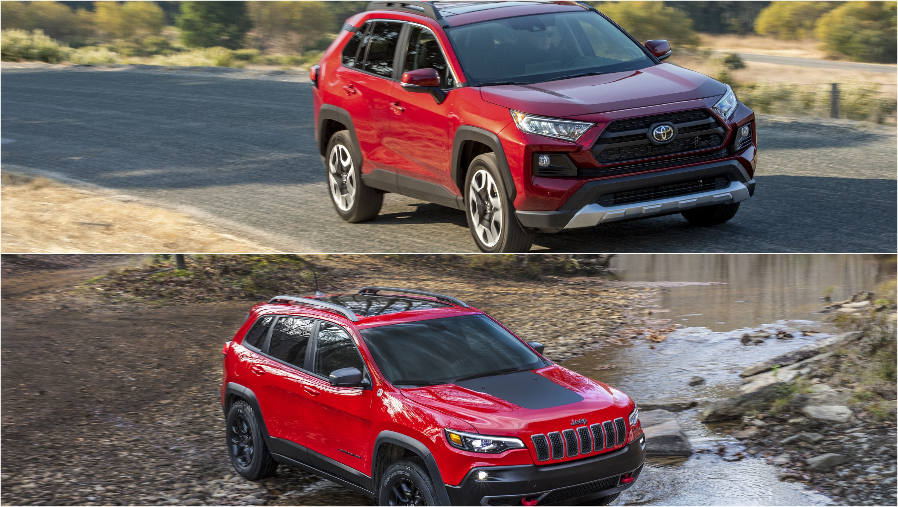 Off Road Crossover Shootout 2019 Toyota Rav4 Adventure Vs 2019 Jeep Cherokee Vs 2019 Subaru Forester Pictures Photos Top Speed