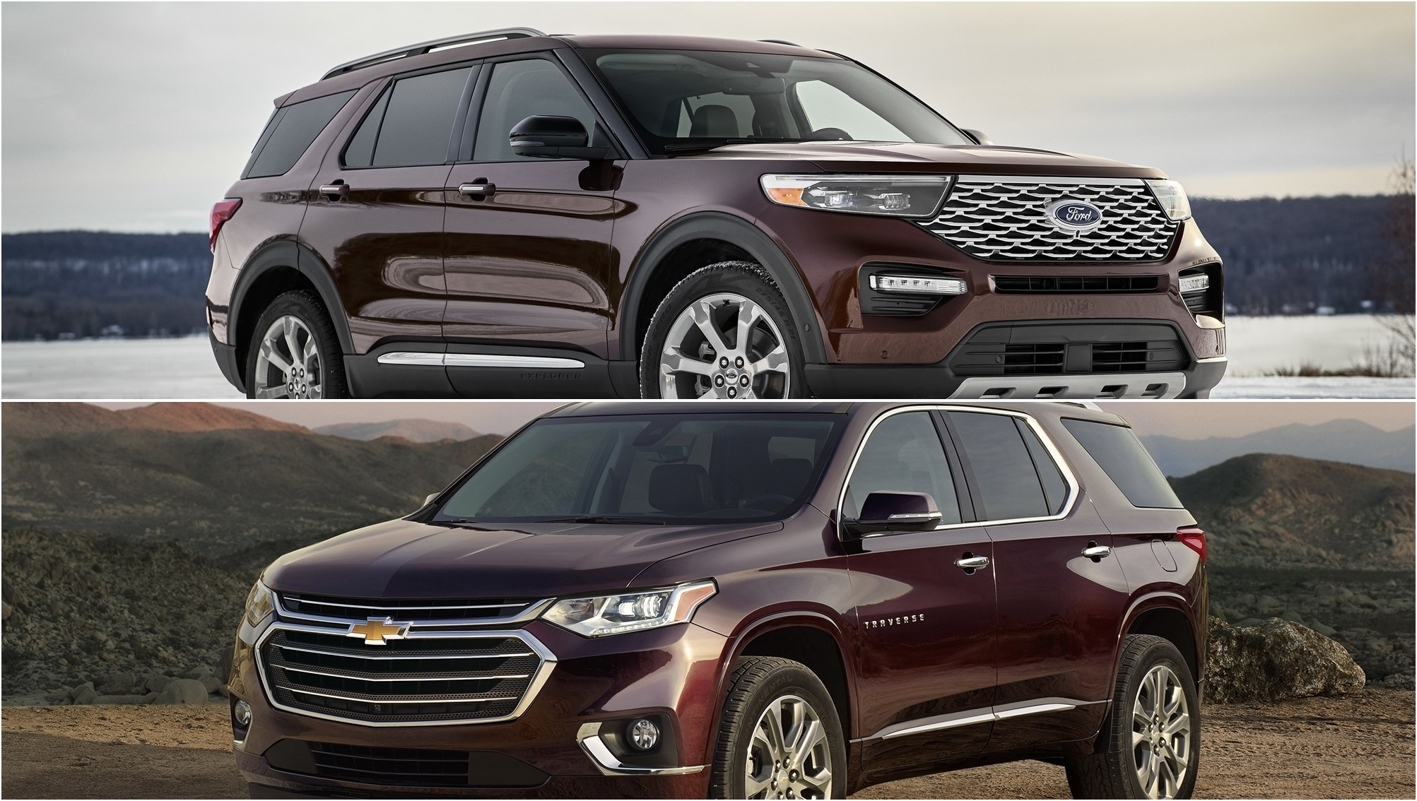 Ford Edge Vs Escape >> 2020 Ford Explorer Vs 2019 Chevy Traverse Pictures, Photos ...