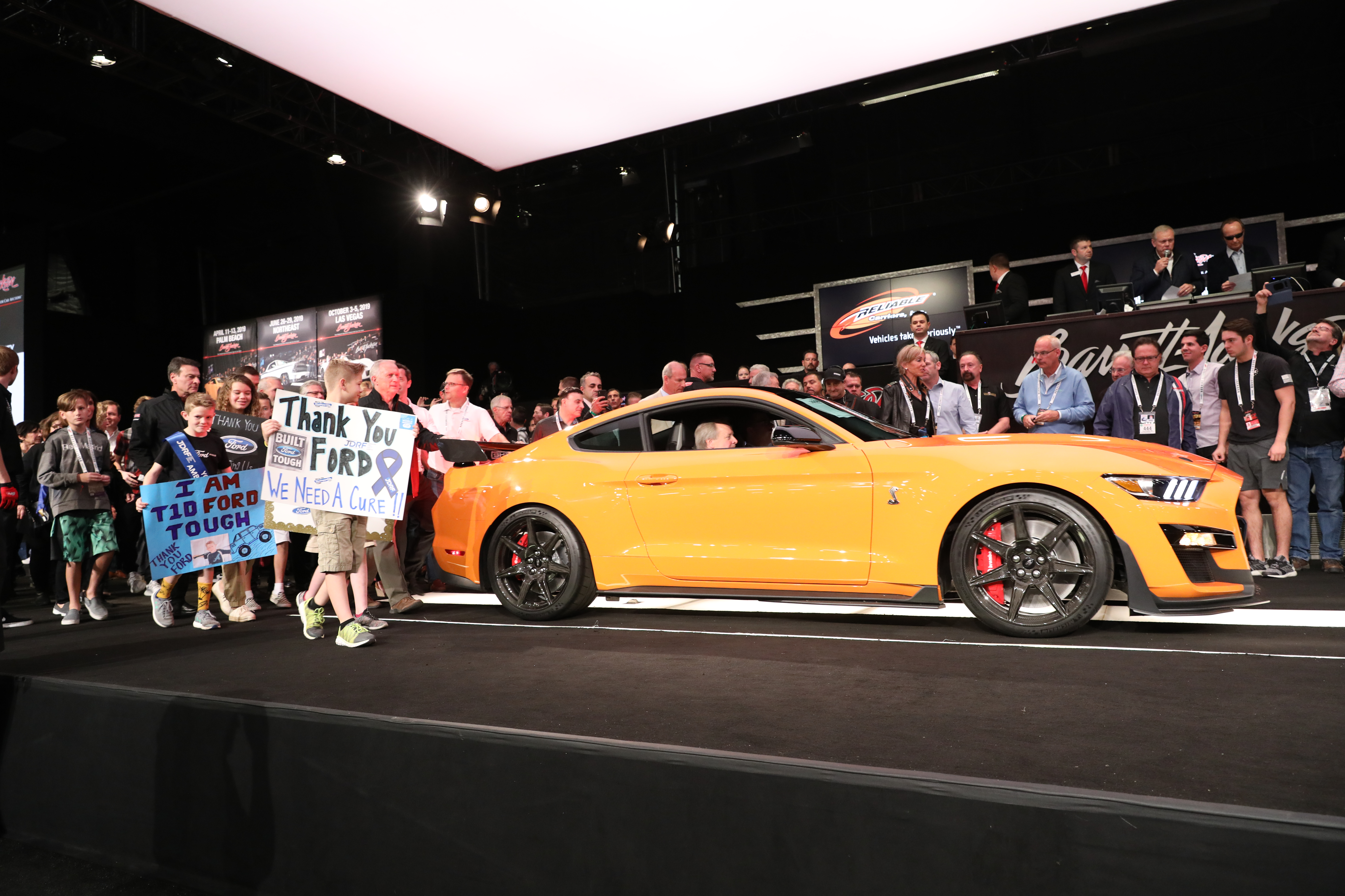 First 2020 ford mustang shelby gt500 sold for 1 1 million