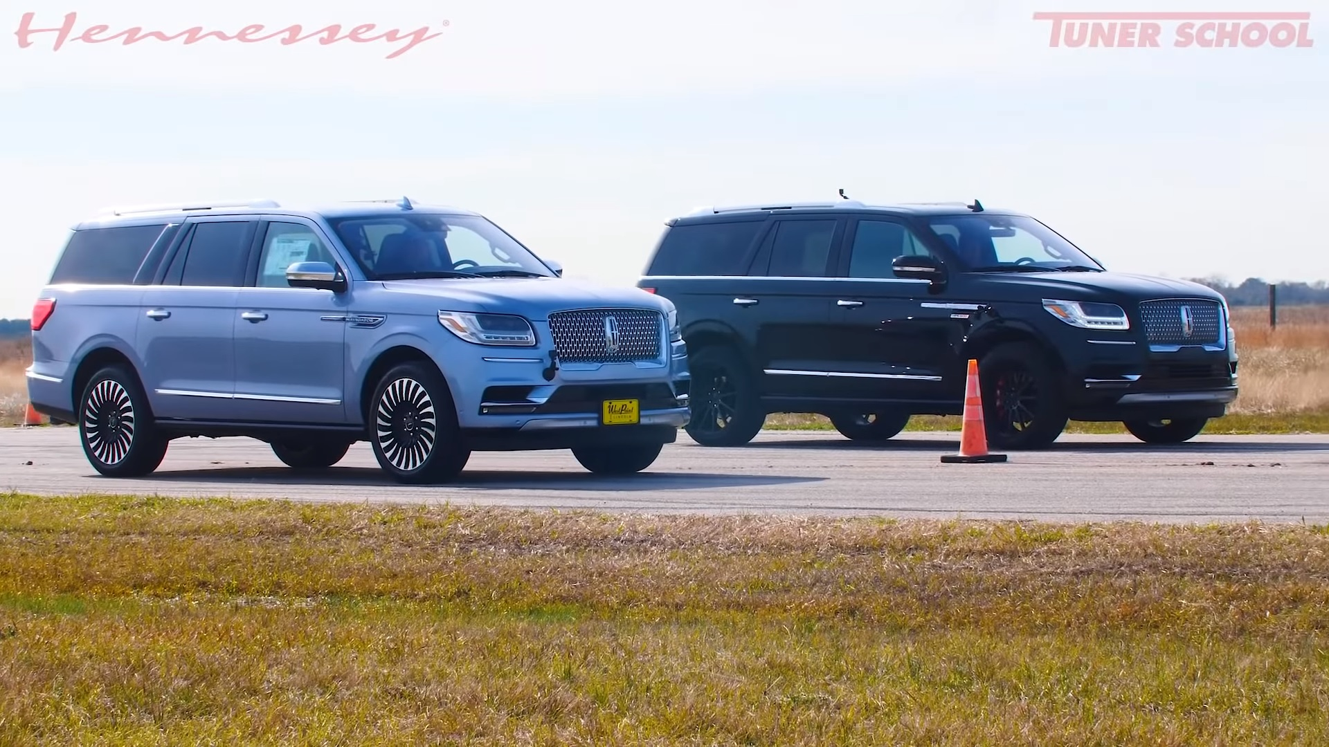 Watch A Stock 2019 Lincoln Navigator Take On A Hennessey Tuned