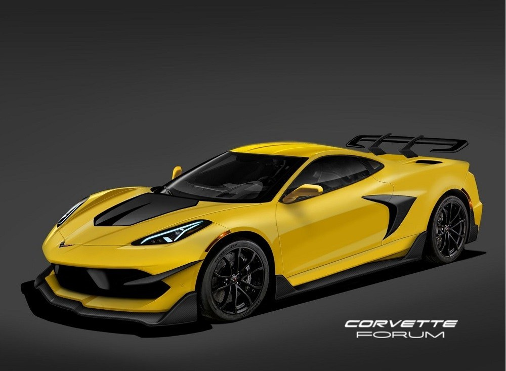 This Rendering Of The 2020 Chevy C8 Corvette Zr1 Represents Ford S