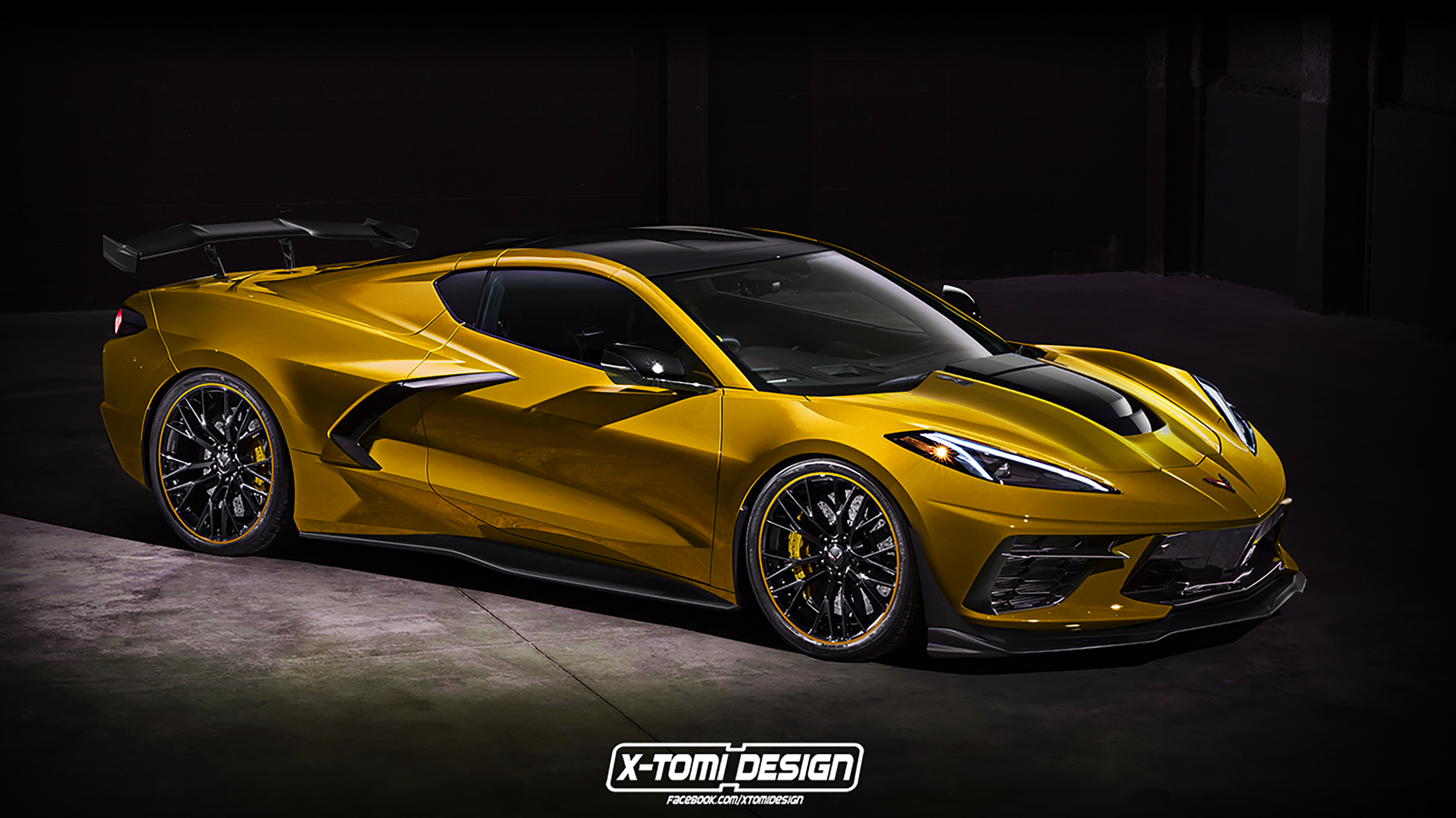 The First Rendering Of The 2021 Chevy C8 Corvette ZR1 Has Us