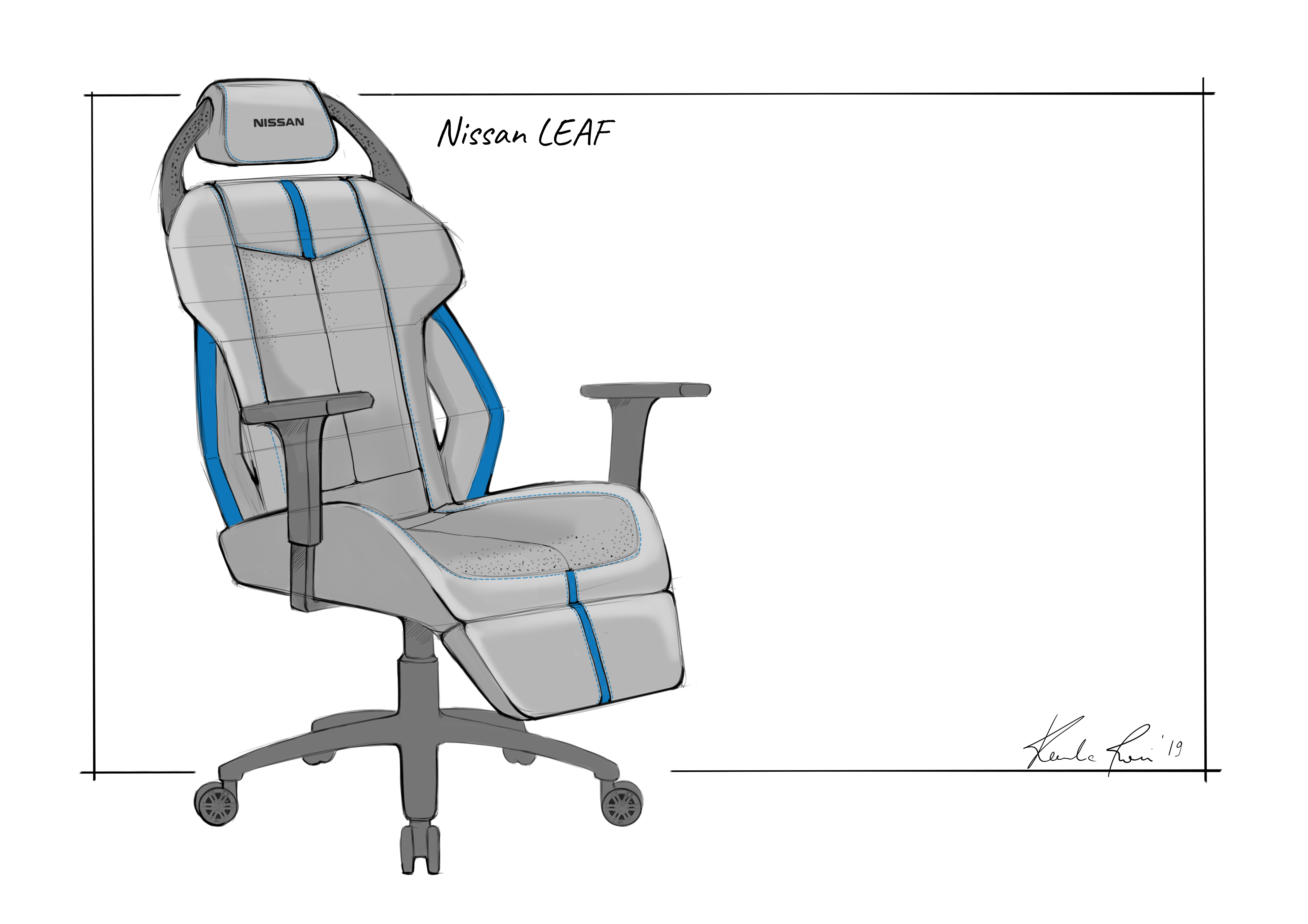 Terrific Fancy A Gaming Chair Thats Inspired By The Gt R Nissan Has Machost Co Dining Chair Design Ideas Machostcouk