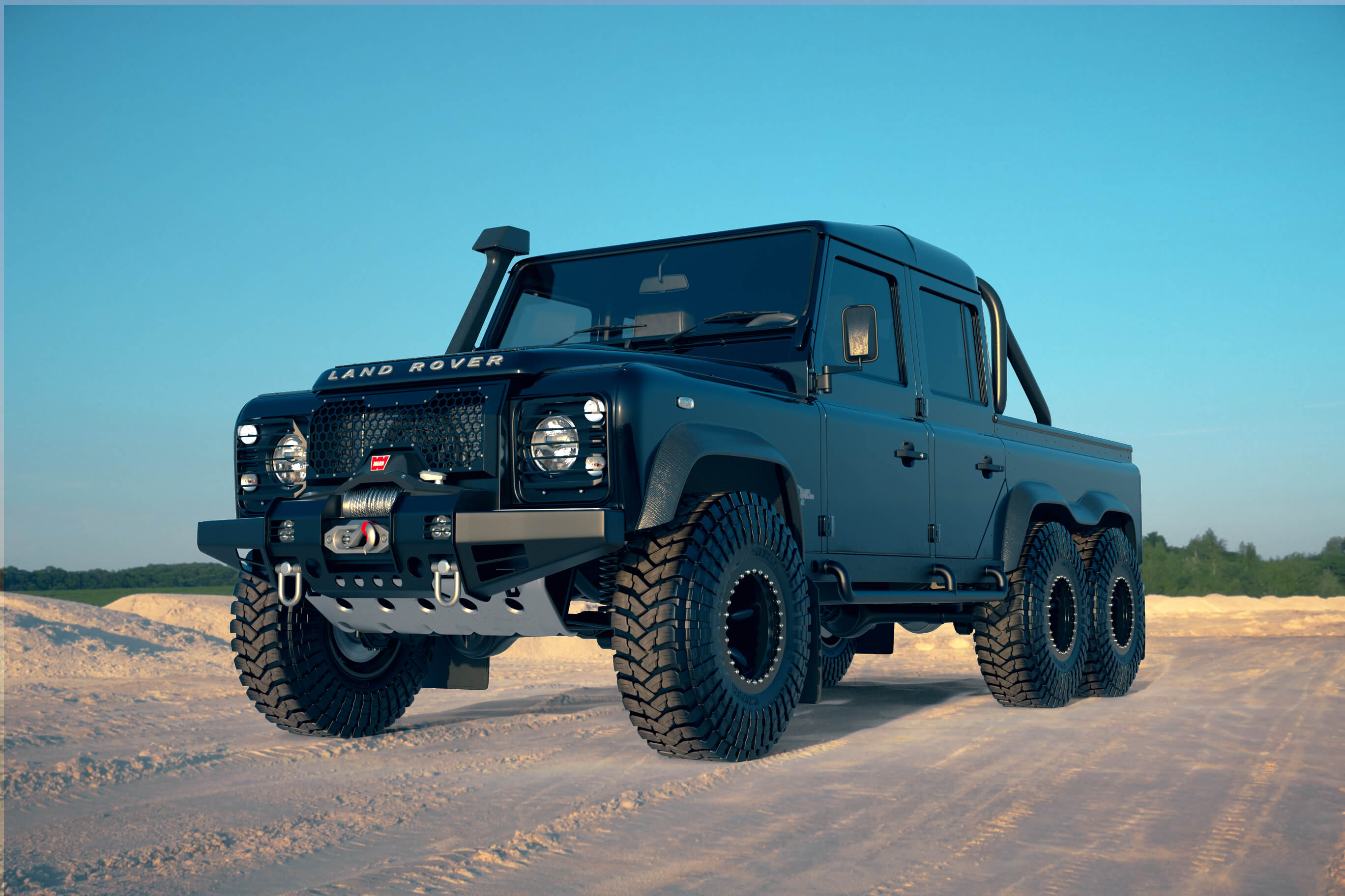 2019 Land Rover Defender 6x6 Black Mamba By Classic Overland Top Speed