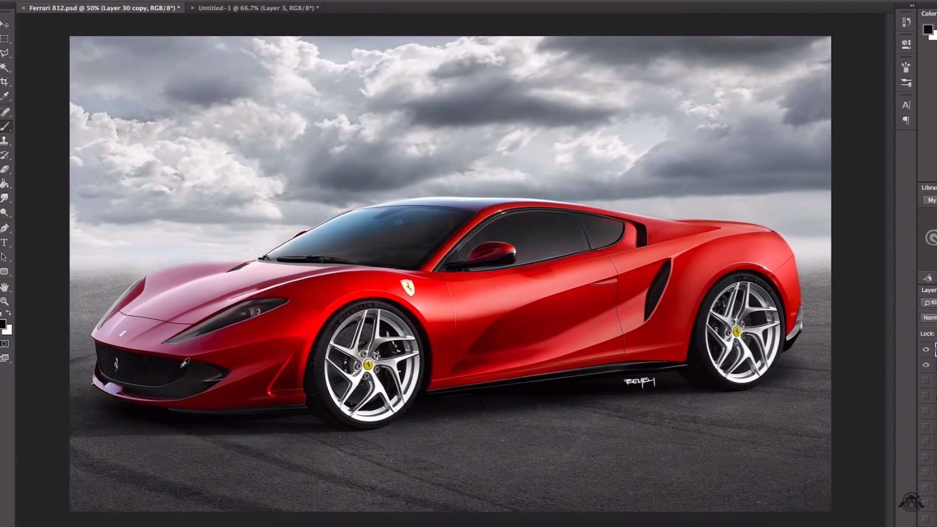 New Video Shows Us What The Ferrari 812 Superfast Would Look Like As A Mid Engined Supercar